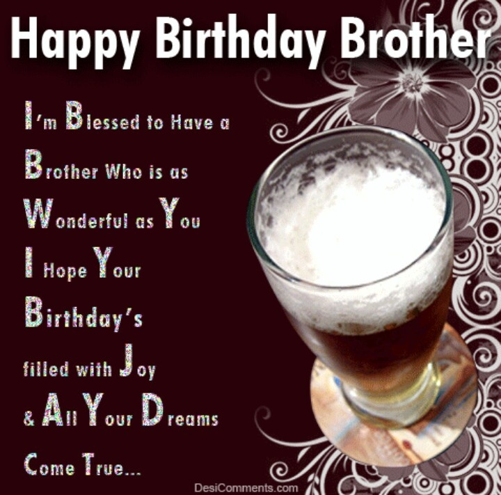 Happy Birthday Brother Happy Birthday Pinterest Happy Lovely Happy Birthday Wishes Quotes