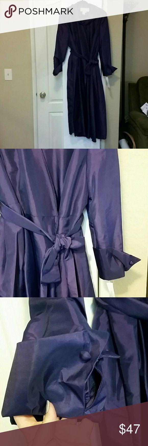 Purple dress Purple tea length dress with belt and french cut sleeves nubiano Dresses