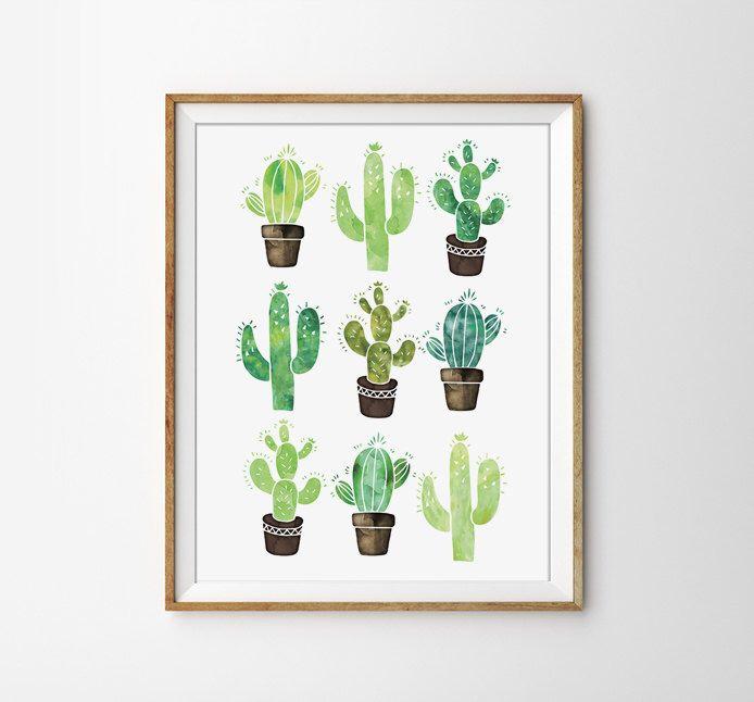 Cactus affiche Print aquarelle, succulente, Nature Print, affiche Floral, décoration moderne, Office Art, imprimer Print coloré par SamsSimpleDecor sur Etsy https://www.etsy.com/fr/listing/242476559/cactus-affiche-print-aquarelle