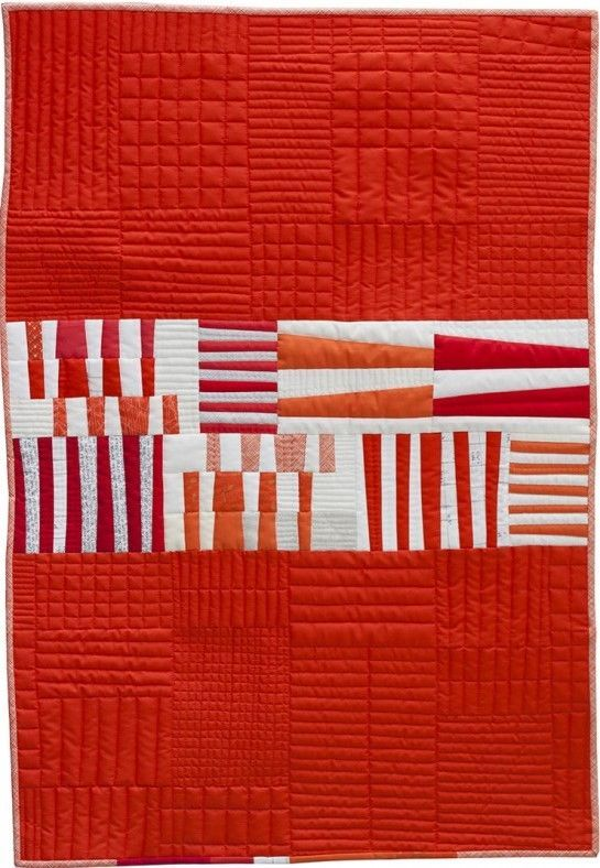 Totem quilt by Carolyn Friedlander