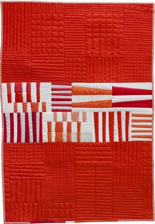 Totem quilt by Carolyn Friedlander