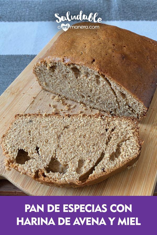 Un pan de especias delicioso que puedes preparar en el horno de tu casa siguiendo nuestra receta paso a paso.  Lo saludable de esta receta de pan de especias es que cambiamos la harina regular por harina de avena, redujimos la cantidad de azúcar y miel además de utilizar leche baja en grasa. Breads, Food, Spice, Milk, Healthy Snack Foods, Eating Clean, Bread Recipes, Fat, Bread Rolls