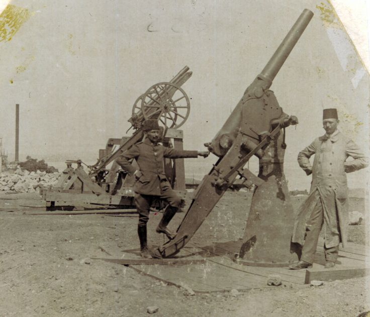 German 50 Mm Anti Tank Gun: Ottoman Anti-aircraft Guns At Gallipoli Date C1915. WW1