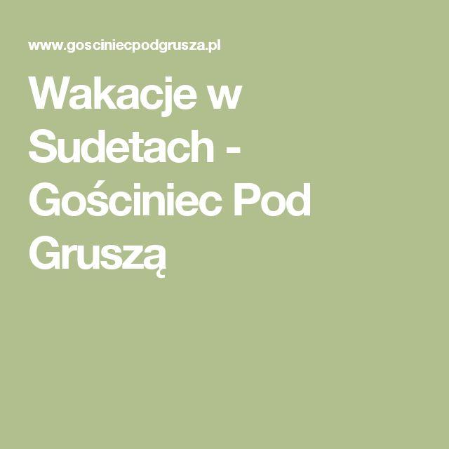 Wakacje w Sudetach - Gościniec Pod Gruszą