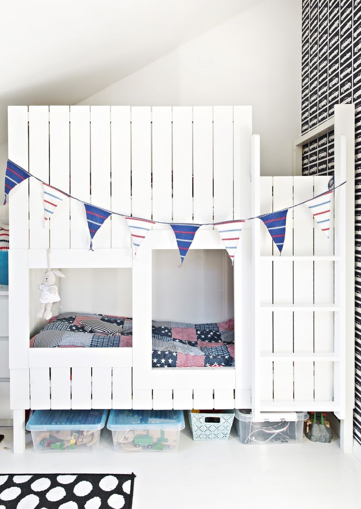 Lasten kerrossänky on kuin linna! Kid's bunk bed is like a castle! | Unelmien Talo&Koti Kuva: Camilla Hynynen Toimittaja: Jaana Tapio