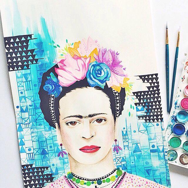 W A L L  A R T   Loads of fun prints instore, we love @farrahsstone Frida! A4 $30.00 • A3 $40.00 Shop   http://daisychainstore.com.au/products/farrah-stone-frida-print?variant=5357267523 Image by @farrahsstone