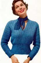 Crocheted Slipon Sweater Pattern   Sizes 12 (14, 16)    Crochet Patterns