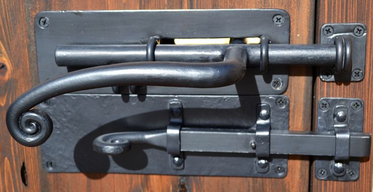 will definitely need some cool handle/hardware Double Slide Latch - Gate And Door Slide Bolts - 300HH