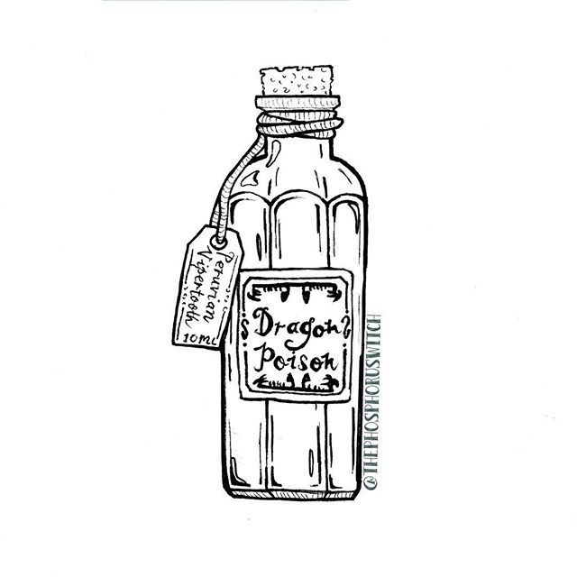 HP Potion Ingredients: Dragon Poison — 9/∞ . . . 〰 #