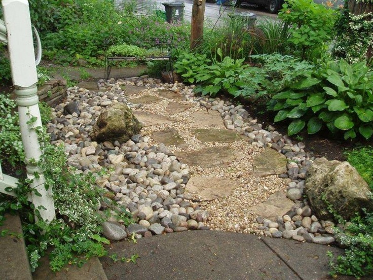 96 Best Rain Gardens/Dry River Rock Gardens Images On Pinterest | Rain  Garden, Landscaping And Dry Creek Bed