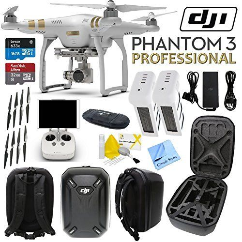 Buy DJI Phantom 3 Professional Quadcopter Drone with 4K UHD Video Camera w/ CS Hard Shell Case and Spare Battery Bundle securely online today at a great price. DJI Phantom 3 Pro...
