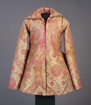 Child's Overcoat (Gyermekmente - ún. Oláh Miklós-mente) 1550-1600 in silk brocade.