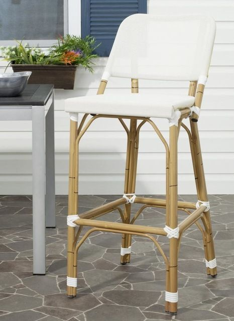 Deltana Barstool Brown (INDOOR/OUTDOOR) transitional-outdoor-stools-and-benches