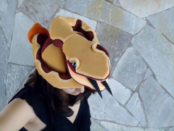 CHAPÉU DE COBRA, CHAPÉUS DE COBRA, FANTASIA DE COBRA, CABEÇA DE COBRA, COBRA, chapéu de cobra, chapéus de cobra, chapeu de cobra, chapéus de animais, festas e fantasias,
