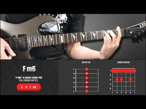 Guitar Chord Library : F Chords - Fm6 - YouTube