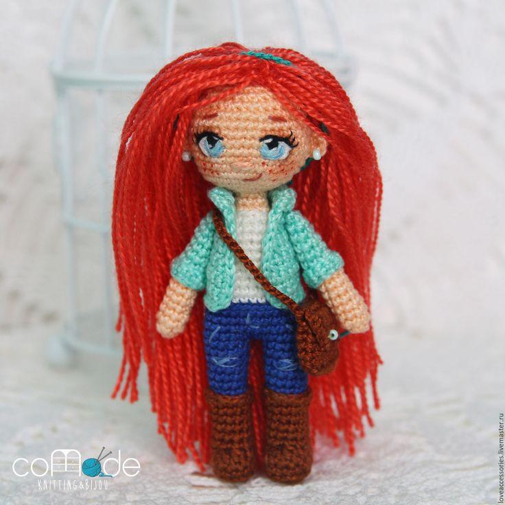 """Купить Куколка """"Лила"""" - комбинированный, кукла в подарок, кукла ручной работы, вязаная игрушка"""