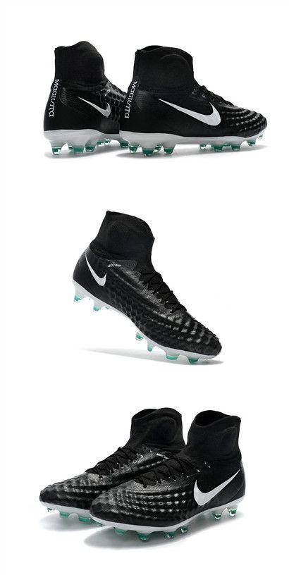 Crampons Football Nouvel Nike Magista Obra 2 FG Noir Blanc