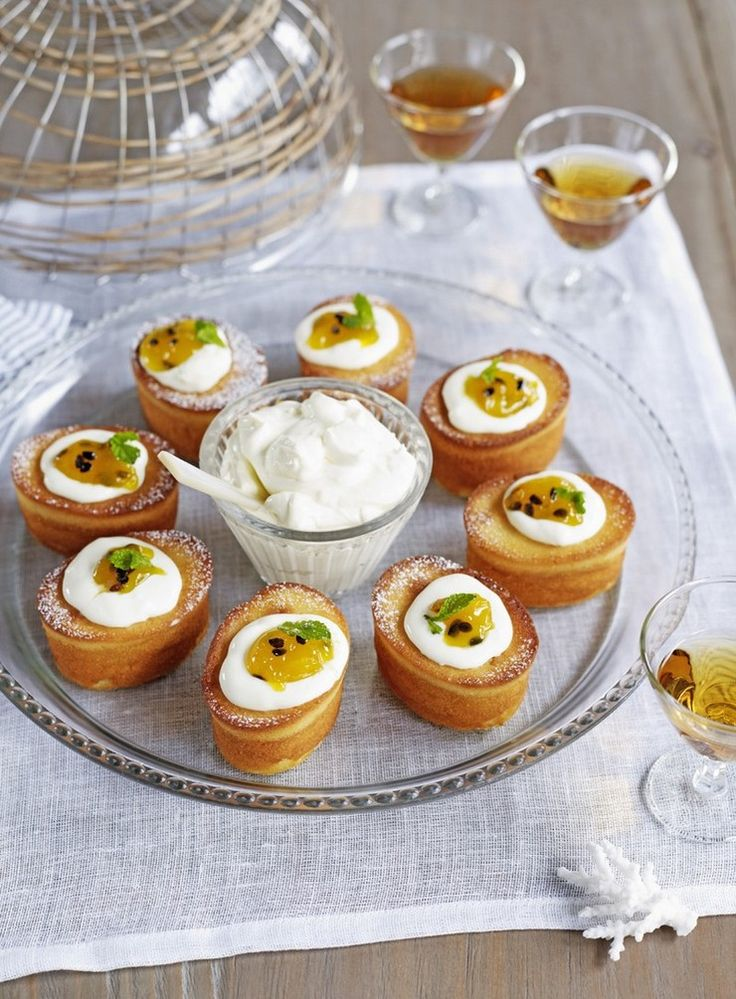 Lime, Riesling and Passionfruit Curd Cakes