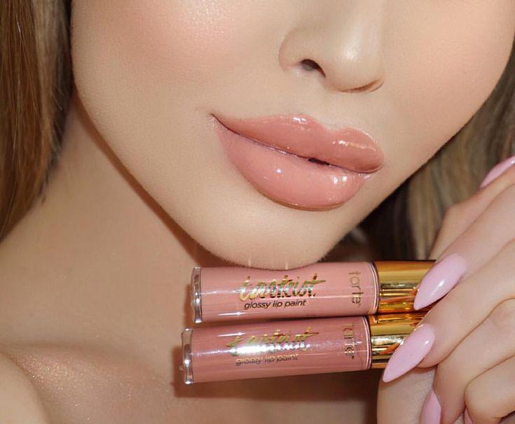 "Jade Marie on Instagram: ""• HELLA ✖️ OBVI • mixed these Glossy Lip Paints from #Tarte @tartecosmetics #jadeylips"""
