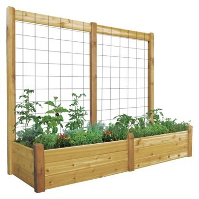 Gronomics Raised Garden Bed 34x95x13 with Trellis Kit   Unfinished