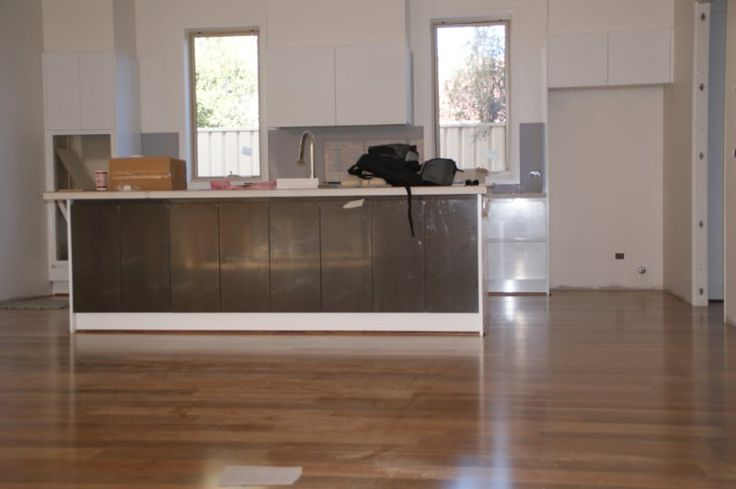 SPOTTED GUM - Installing the planks in this formation gives a the room a very spacious feel
