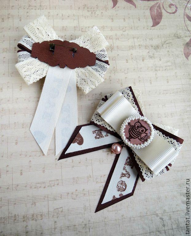 Купить Коллекция брошек Love & Birds. - коричневый цвет, бежевый цвет, брошь, брошки
