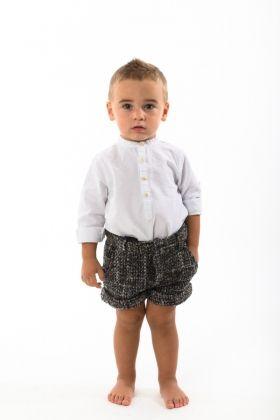 Short infantil tweed