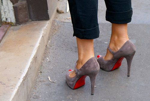 Love : Shoes, Fashion, Style, Red Sole, High Heels, Christian Louboutin, Closet, Mary Jane, Red Bottom