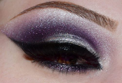 Purple and Silver shimmer