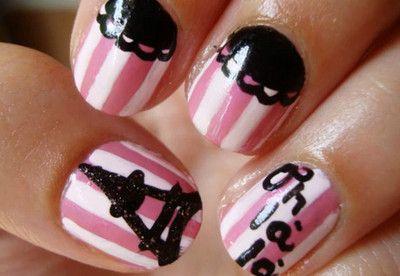Paris NailsNails Art, Paris Nails, Nailart, Eiffel Towers, Nails Design, Paris Theme, French Nails, Nail Art, Theme Nails