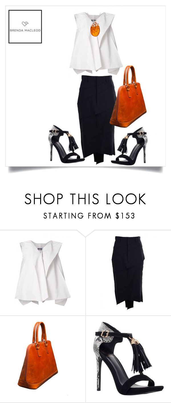 """""""sexy elegance"""" by brendamacleod ❤ liked on Polyvore featuring Issey Miyake, Aganovich, Handle, KG Kurt Geiger and Be-Jewelled"""