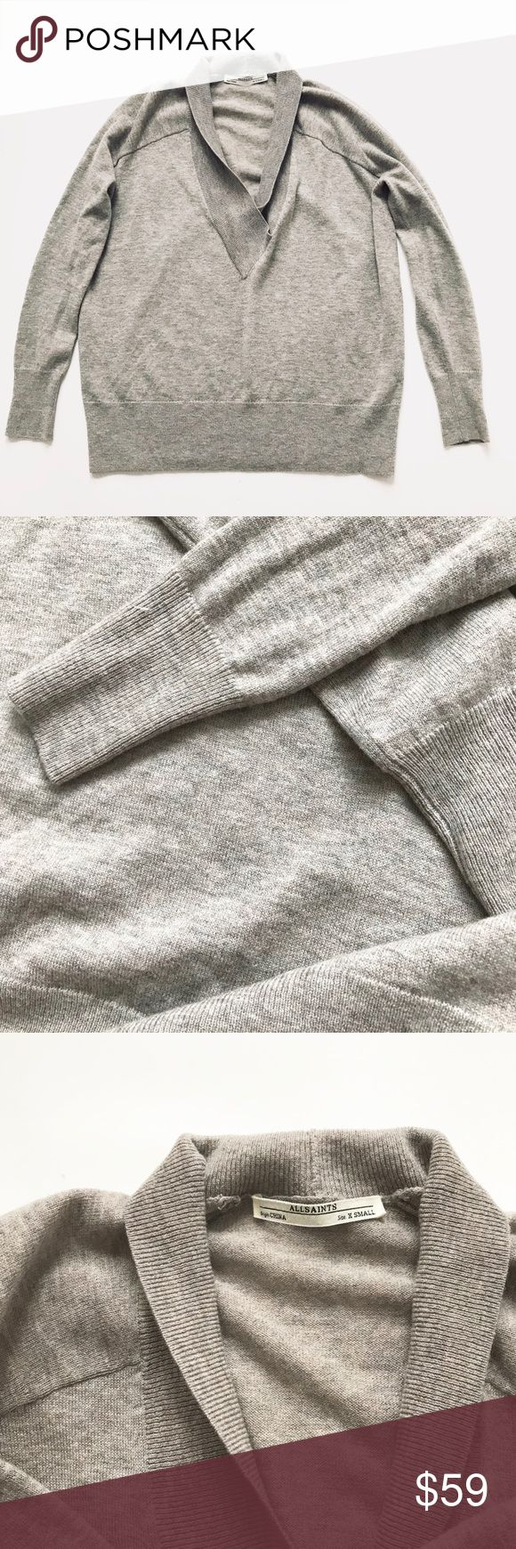 Euc All Saints wool sweater women Sz Xs Very soft and comfortable sweater from All Saints. It's in excellent used condition. All sales are final. All Saints Sweaters V-Necks