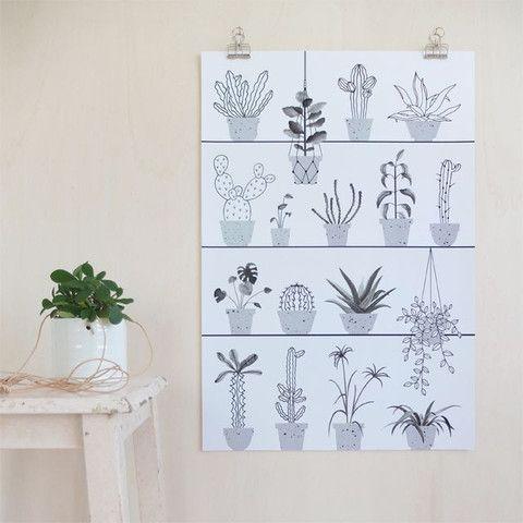 Audrey Jeanne  Botanical Print: Audrey Jeanne Botanic print. 40 x 60cm. Designed in France.