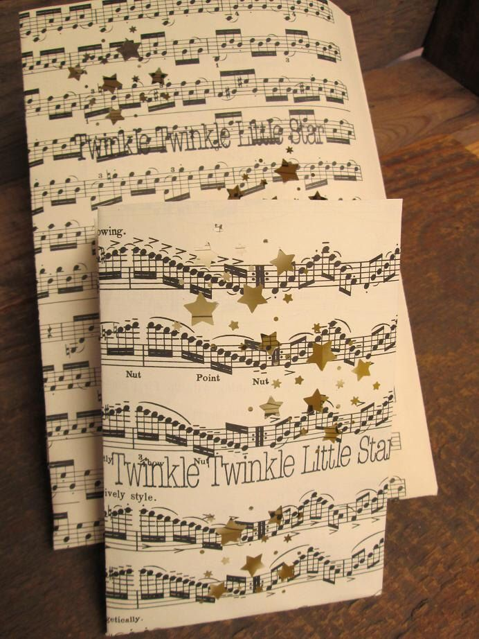 Set of Twinkle Twinkle Little Star Luminaries, Night Lights, Star Centerpiece, Music Art, Stars, Sheet Music, Music Notes, Luminary Set by Oldendesigns on Etsy https://www.etsy.com/listing/120101407/set-of-twinkle-twinkle-little-star
