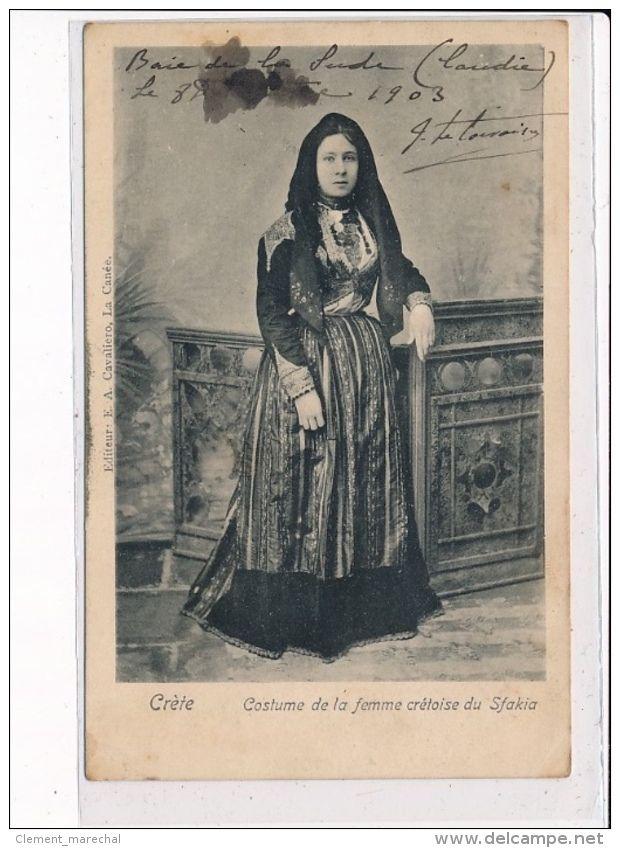 RETE - Costume de la femme crétoise du Skafia  [1903] www.delcampe.fr/fr/collections/cartes-postales/grece/grece-crete-costume-de-la-femme-cretoise-du-skafia-philatelie-tres-bon-etat-396833984.html