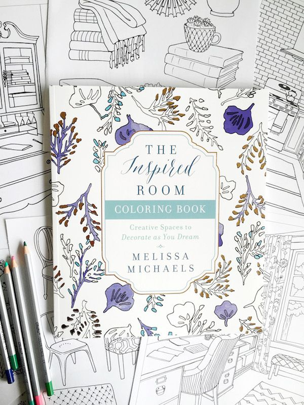24 best The Inspired Room - Interior Design Coloring Book images on - best of coloring page of a hair brush