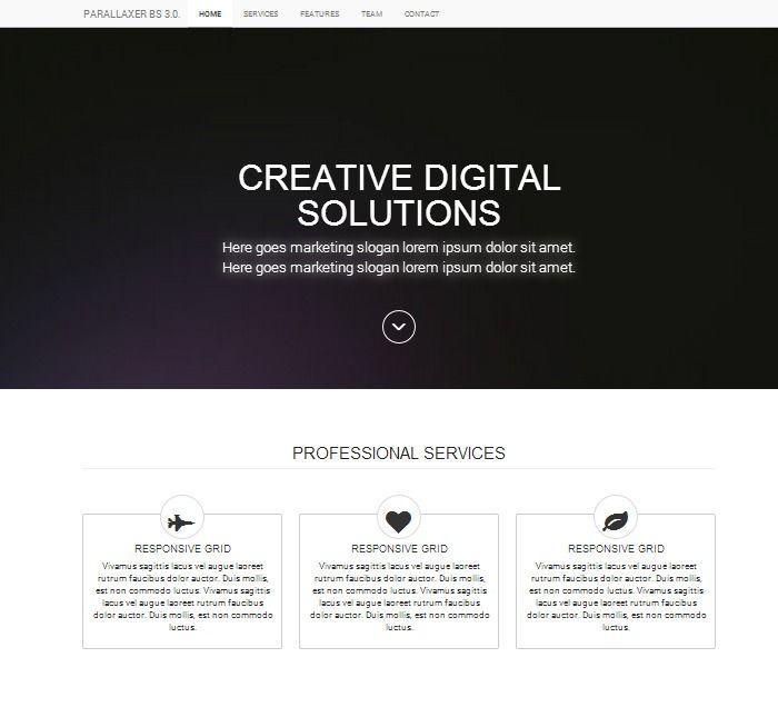 bootstrap 3 website template