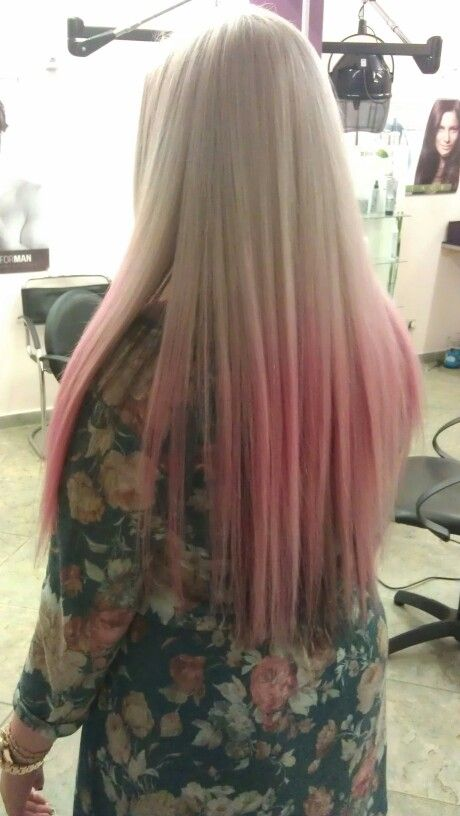 #ombre#blonde#pink#long hair#