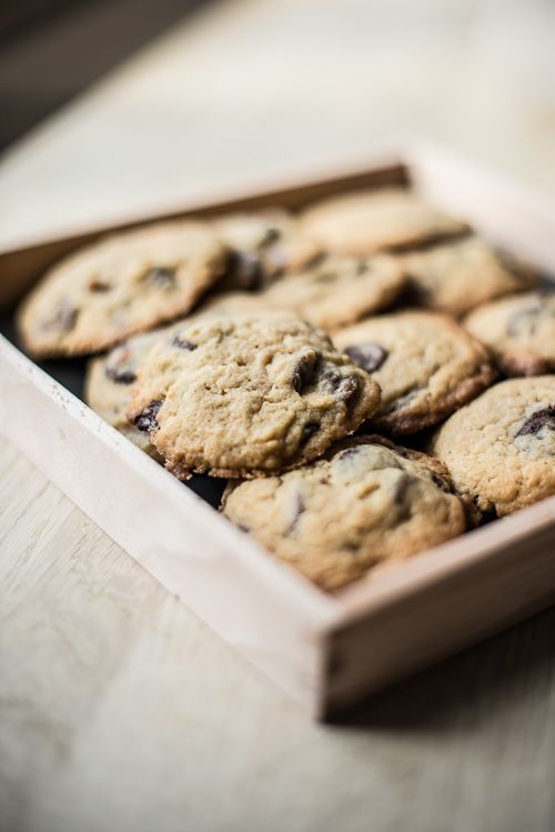 Kæmpestore Double chocolate chip cookies