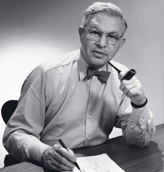This is Arne Jacobsen born in 1902 and died in 1971. He was an Architect as well as a designer. He created prototypes for furniture, textiles, wallpapers, silverware etc. His most well known designs include: The Ant, Series 7, The Egg, and The Swan.