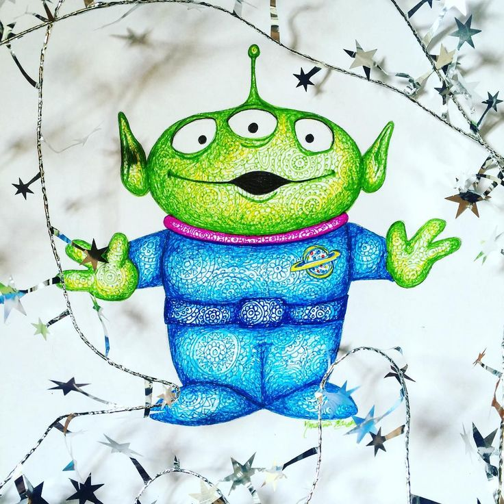 Alien (Drawing by Kristina_Illustrations @Instagram) #ToyStory