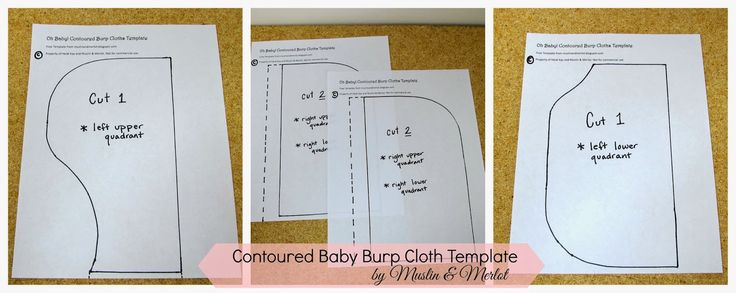 Muslin and Merlot: Oh Baby! Part Two: Contoured Burp Cloth Template - Free Template!