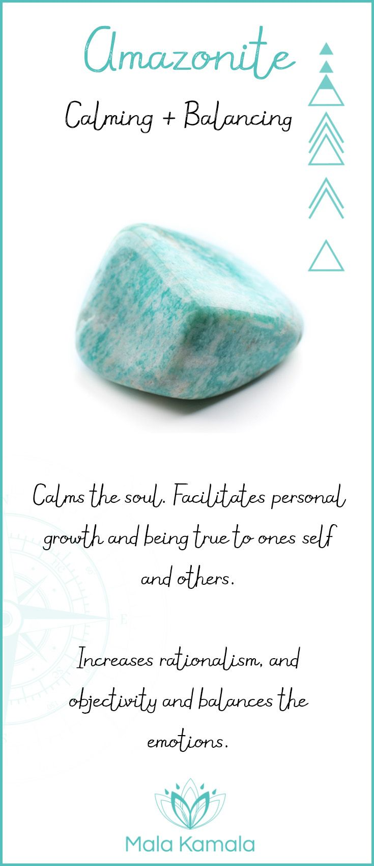 Amazonite ~ Calming & Balancing                                                                                                                                                                                 More