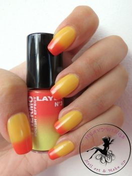 Vintage Layla red to yellow thermo