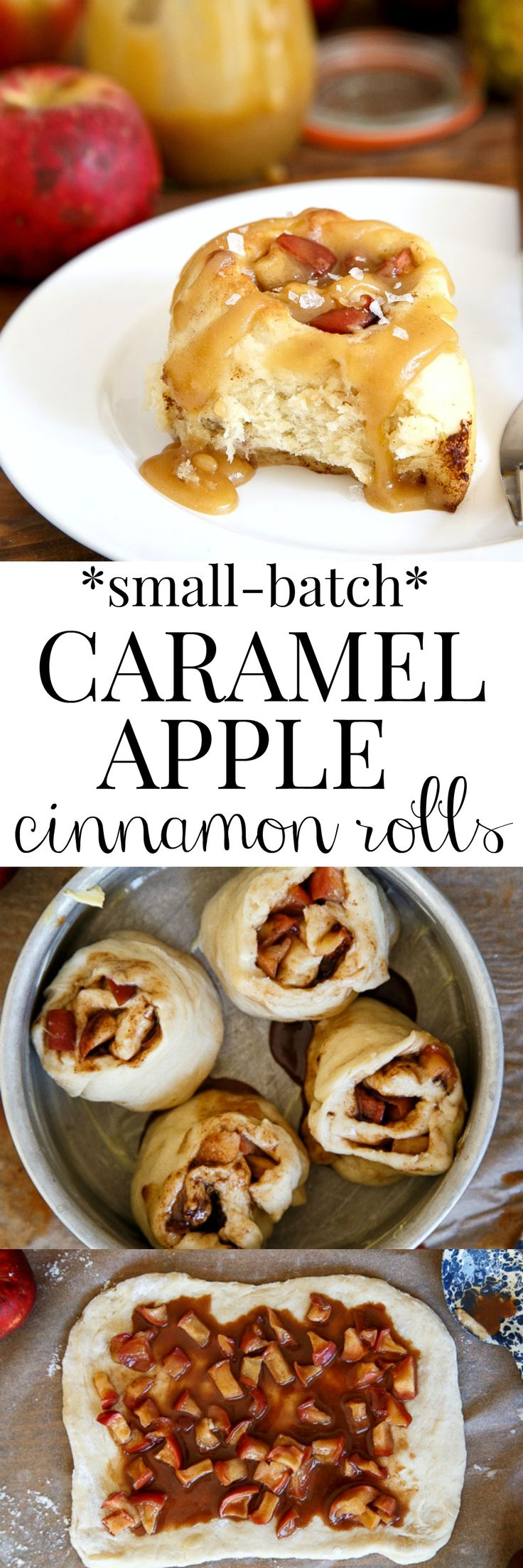 Apple Pie Cinnamon Rolls with Salted Caramel Sauce! I can't decide if this…