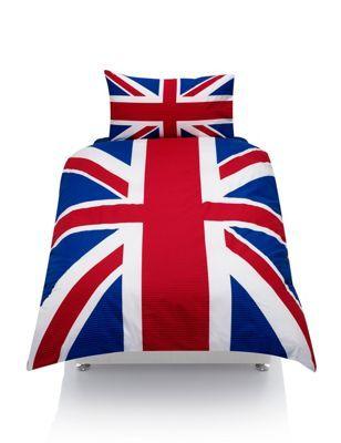 Juego de sábanas con la bandera del Reino Unido  Union Jack