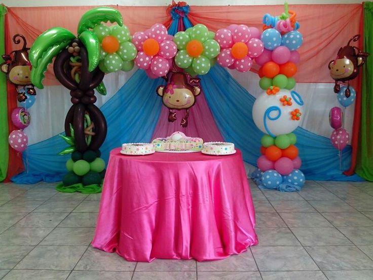 Decoracion cumplea os ni a decoraci n con globos pinterest - Ideas para cumpleanos de nina ...