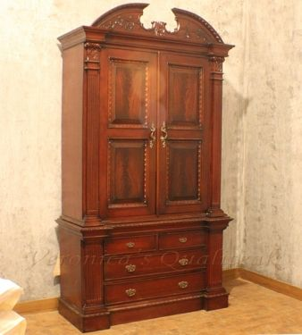 Bernard Classic Mahogany Wardrobe Is A Colonial Furniture Style Wardrobe
