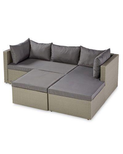 Aldi Corner Rattan Effect Sofa Cover: 25+ Best Ideas About Grey Corner Sofa Bed On Pinterest