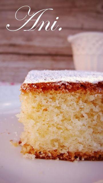 La Cocina de Ani: BIZCOCHO ESPONJOSO DE YOGURT DE LIMON